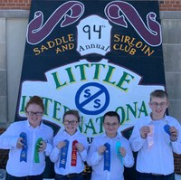 The Ward County team placed first in the junior division of the Little I 4-H crop judging contest. Pictured are, from left: Makayla White, Abby Finke, Daylon Yanish and Mark Schauer. (NDSU photo)