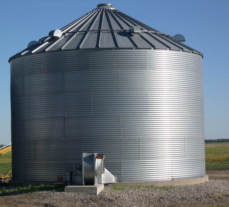 The moisture content and temperature of grain play a big role in how long that grain can be stored without significant deterioration. (NDSU photo)