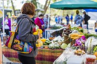 Farmers markets and farm stands can increase access to fresh, local food by becoming an authorized retailer for SNAP. (Photo courtesy of the North Dakota Department of Agriculture.