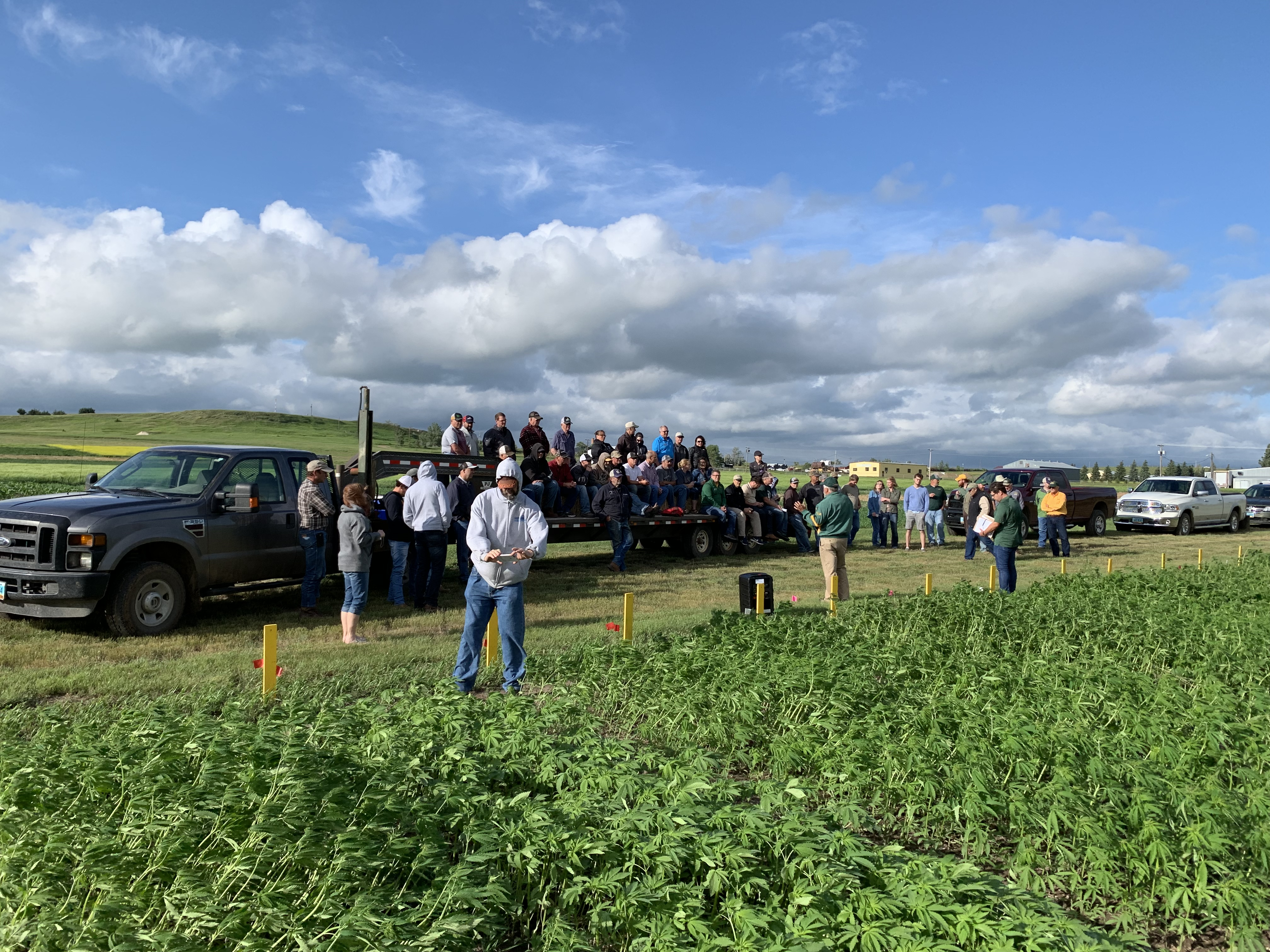 Visitors learn about the latest research at the Hettinger Research Extension Center. (NDSU photo)