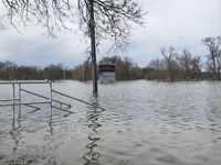 Members of the CoCoRaHS Network collect data that can help predict flooding like this. (NDSU photo)
