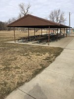 The dining patio to be built at the North Dakota 4-H Camp will look similar to this one. (NDSU photo)