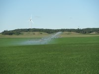 Irrigation provides many benefits to agricultural producers. (NDSU photo)