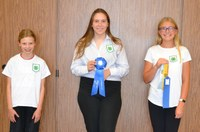Stark-Billings County's junior team took first place in the junior division of the 2020 North Dakota 4-H consumer decision making contest. Pictured are, from left: Carley Bullinger, Paula Meyer and Phaden Schrum. (NDSU photo)