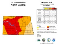 The latest U.S. Drought Monitor shows all of North Dakota is in a drought.
