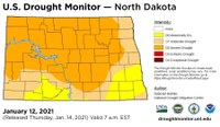 This Drought Monitor map shows the latest drought conditions in North Dakota.