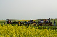 Visitors attend a field day at NDSU's Langdon Research Extension Center. (NDSU photo)