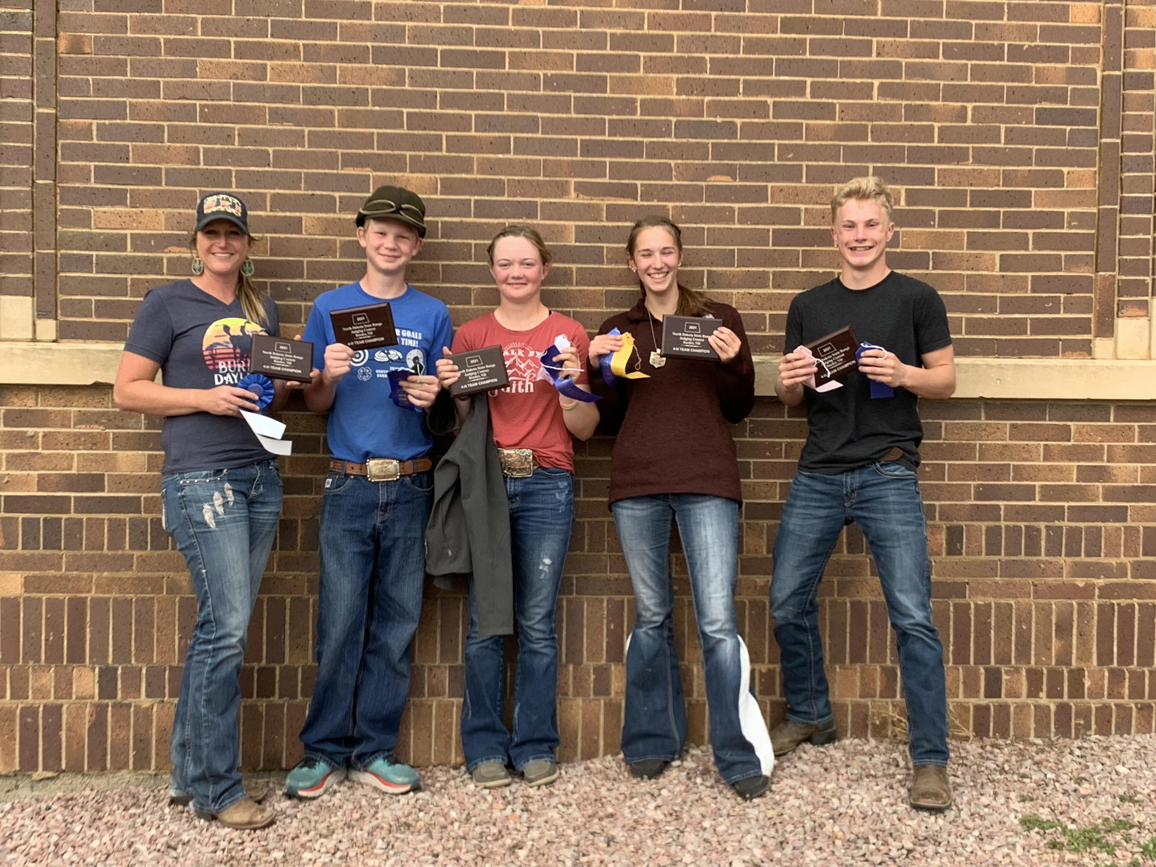 McKenzie County's senior 4-H range judging team will represent North Dakota in national competition in Oklahoma. (NDSU photo)