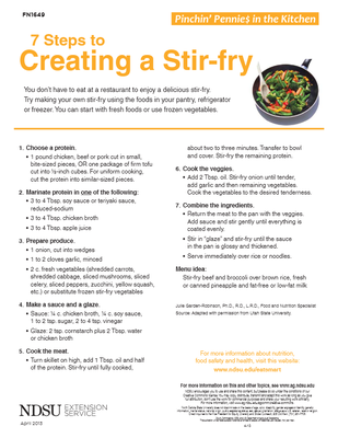 7 Steps to Creating a Stir-fry