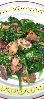 Sauteed Spinach Mushroom Side Dish