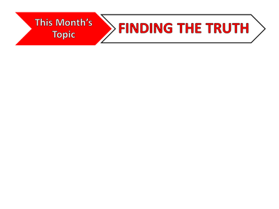 Topic Banner - Truth