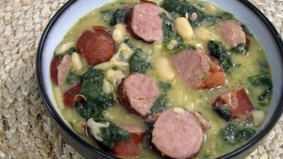 White Beans with Spinach and Sausage