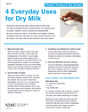 Uses for Dry Milk