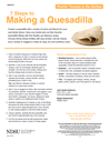 Making a Quesadilla