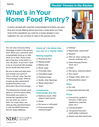 What's in Your Home Food Pantry?