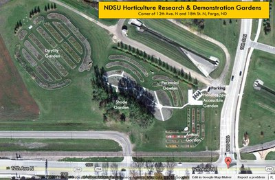 Map of Horticulture Gardens