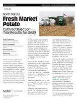 North Dakota Fresh Market Potato Cultivar/Selection Trial Results for 2020