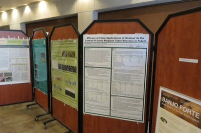 Research poster at the European Association for Potato Research Meeting
