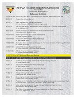 Schedule for Research Reporting Conference and International Crop Expo