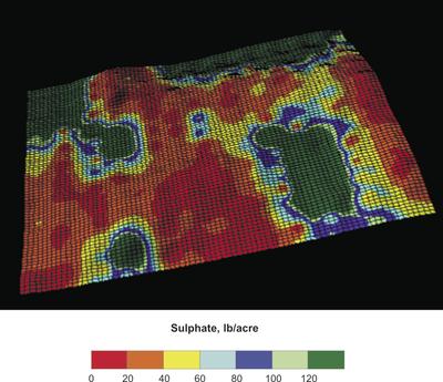 Figure 3 Sulfate-S soil levels