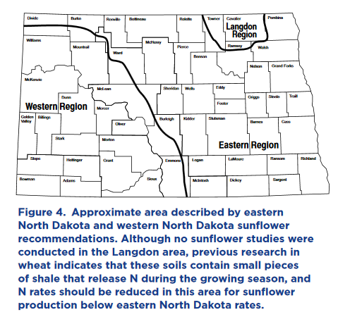 Area described by eastern and western ND