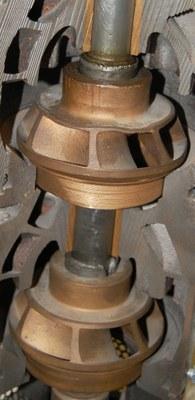 Cutaway view of impellers
