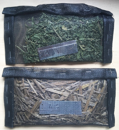 Photo of two mesh litterbags used in the demonstration.