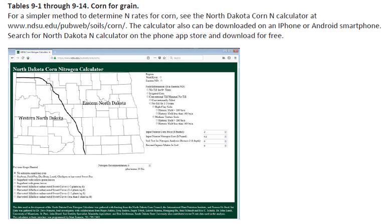 Table 9-1 thru 9 for grain...