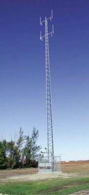 RTK GPS base tower