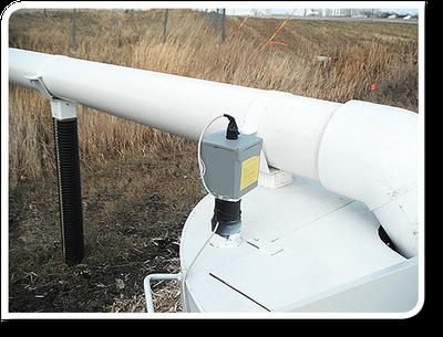 Pressure transducer box and pipe