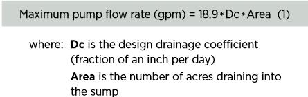 Maxium pump flow rate