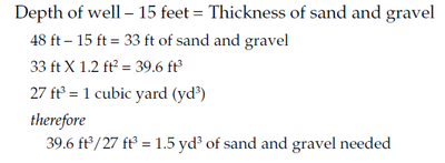 Calculations for sand and gravel
