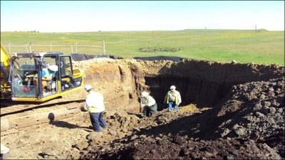 ex situ remediation of brine spill