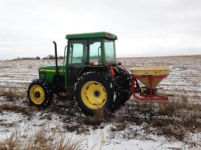 Broadcast snow seeding