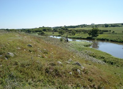 Stream in an alluvial valley type