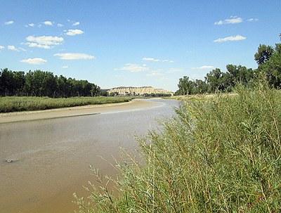 Stream in western ND perennial flow