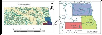 Figure 1 Locations of study
