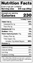example of nutrition facts label