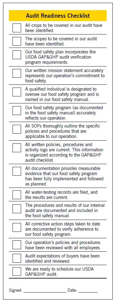 audit readiness checklist