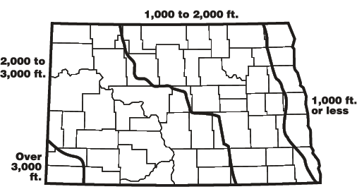 ND Altitude Map