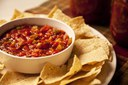 Salsa in bowl with chips