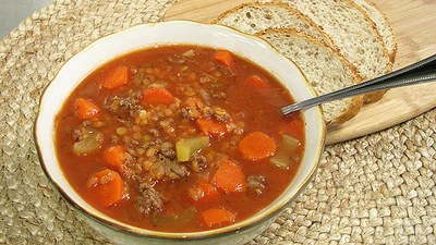 Lentil and Ground Beef Soup