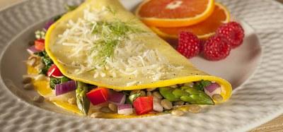 Lentil garden omelet