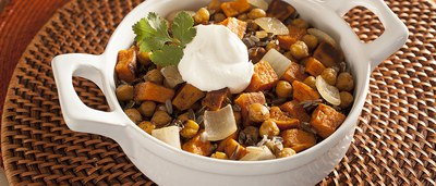 Smoked paprika wild rice sweet potatoes and chick peas