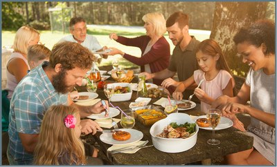 family meal time (photo from iStock.com)