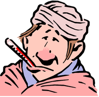 man with thermometer