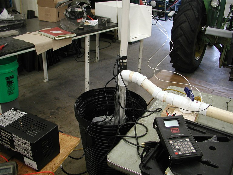 Backup pump test stand