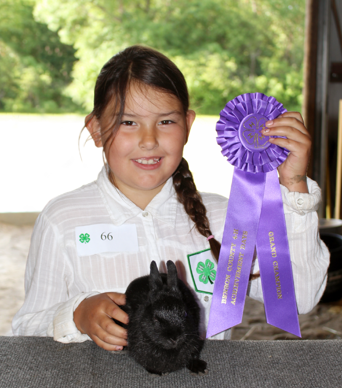 Girl with Grand Champion Ribbon