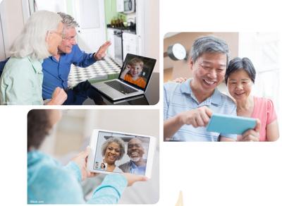 Grandparents on video calls