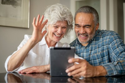 Grandparents on video call